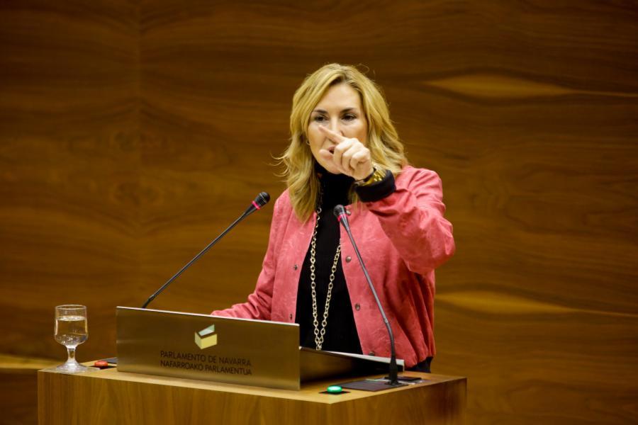 Ana Beltrán es expulsada del Pleno del Parlamento
