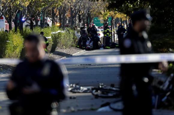 Un terrorista mata a ocho personas en un atropello múltiple en Nueva York