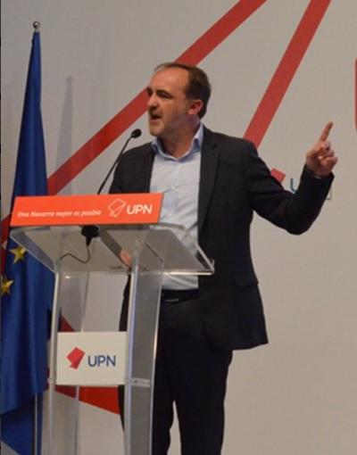 """Esparza: """"Se confirma que hay una hoja de ruta escrita para que en Navarra ocurra lo mismo que en Cataluña"""""""