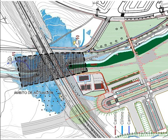 El Ayuntamiento de Pamplona mejorará la capacidad hidráulica del río Sadar bajo la avenida de Navarra