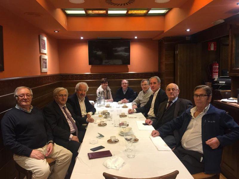 Encuentro de ex dirigentes de UCD-Asturias en Oviedo en el día de la Constitución