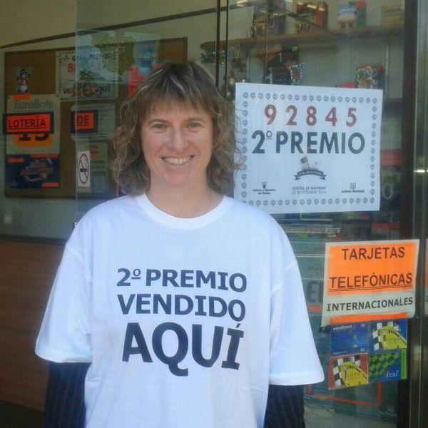Lotera de Pamplona, contenta e ilusionada tras vender el segundo premio