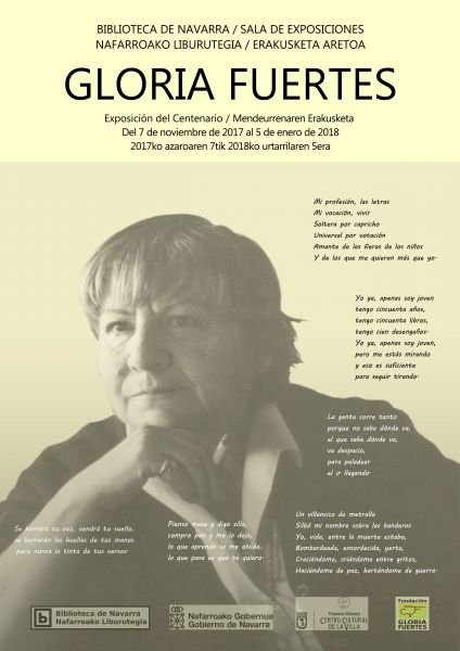 La Biblioteca de Navarra clausura oficialmente el año del centenario de Gloria Fuertes