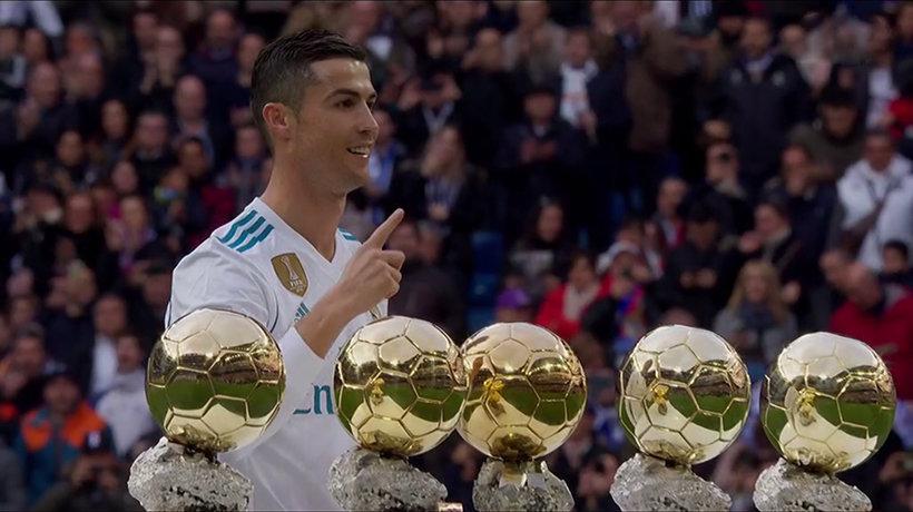 Cristiano Ronaldo dedica su quinto Balón de Oro al Bernabéu
