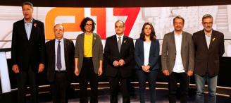 """Independentistas y constitucionalistas chocan en un debate bronco por el """"procés"""""""