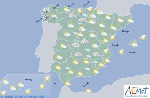 Hoy en España temperaturas anormalmente altas en norte y este peninsular y Baleares