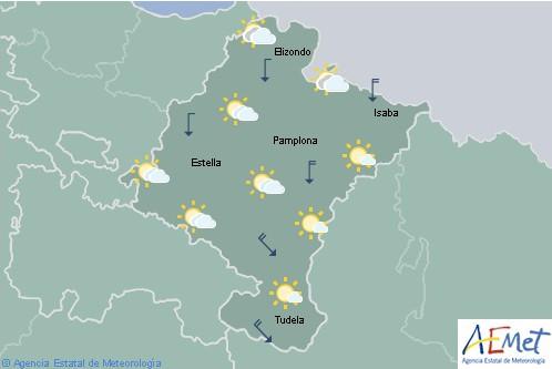 En Navarra hoy cielo nuboso o con algunos claros en el tercio norte y en el extremo oeste