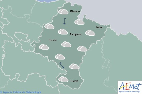 Hoy en Navarra cielo nuboso e intervalos de nubes temperaturas en descenso