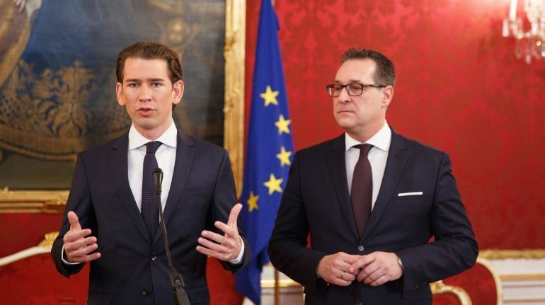 Conservadores y nacionalistas cierran pacto de Gobierno en Austria
