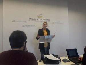 Ana Beltrán en rueda de prensa