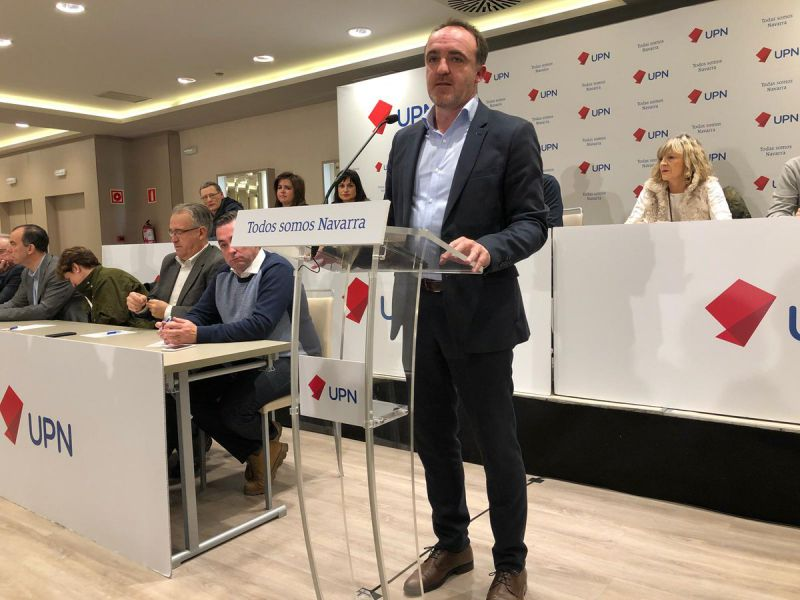 """Esparza destaca la """"unión"""" de UPN frente a la """"ruptura"""" del cuatripartito"""