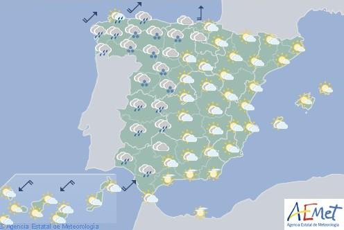 Hoy en España, nevadas en la Cordillera Cantábrica y Sistemas Central e Ibérico