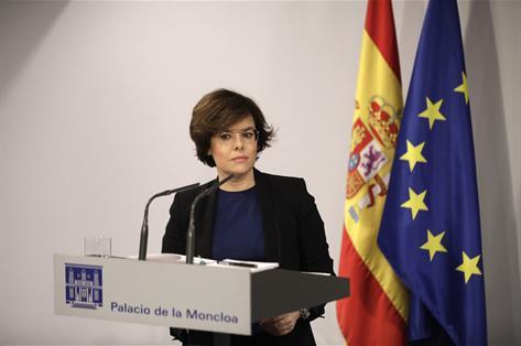 S.Santamaría ve ridículo un Govern simbólico, muestra del fin de Puigdemont
