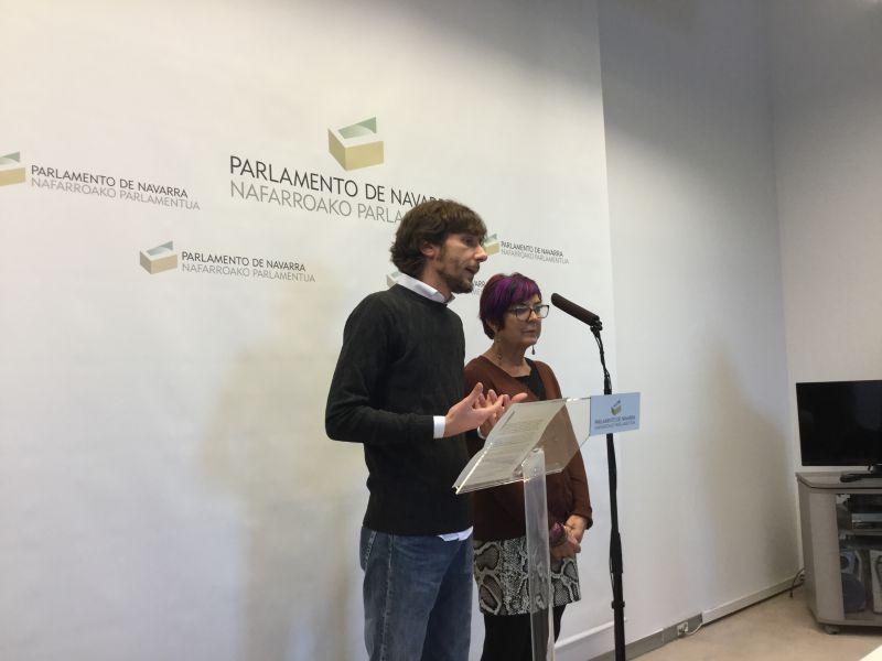 Mikel Buil y Tere Sáez se despiden de la Portavocía de Podemos