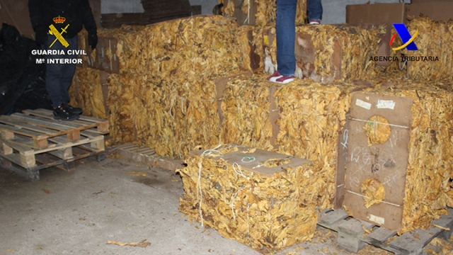 Aprehendidas 14 toneladas de tabaco que iban a venderse en internet