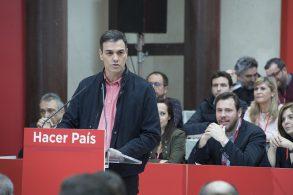 Sánchez intenta despegar como alternativa un año después de las primarias