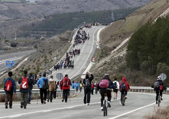 Marzo ha sido un mes más frío y húmedo que la media en toda Navarra