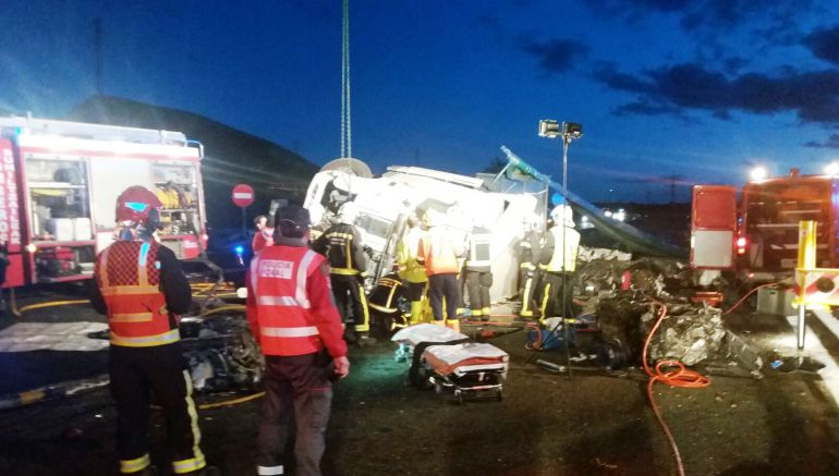 Fallece un camionero en un accidente en la AP-15 a la altura de Unzué