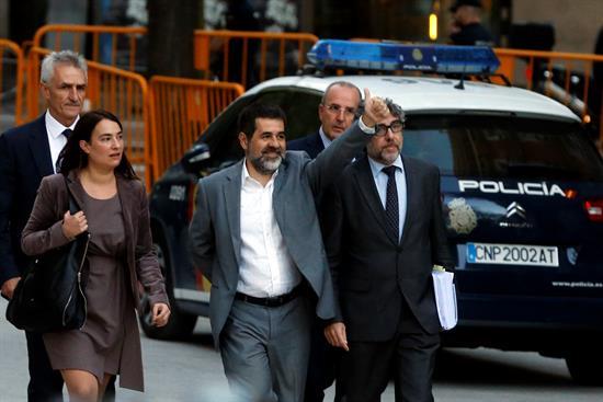 La Fiscalía se opone a la salida en libertad de Jordi Sánchez