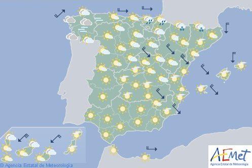 Hoy en España, aumento de temperaturas generalizado en península y este de Canarias