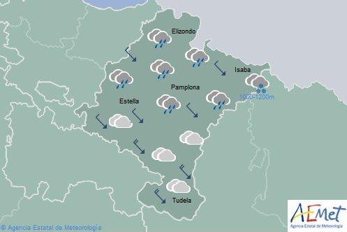 El tiempo hoy en Navarra con precipitaciones en el norte y temperaturas sin cambios