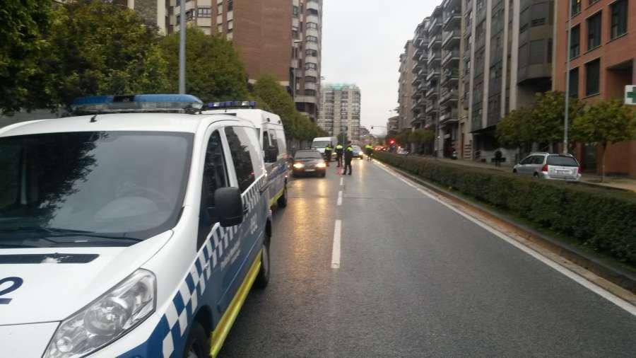 Denunciados 25 conductores por alcohol o drogas el fin de semana en Pamplona