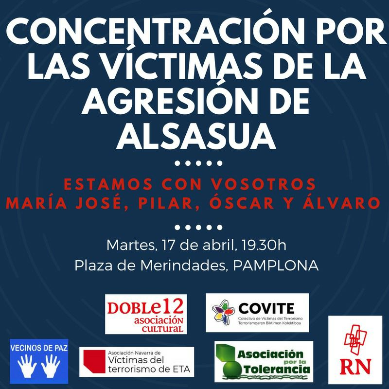 Se convoca una concentración en apoyo a los Guardia Civiles y sus parejas agredidos en Alsasua