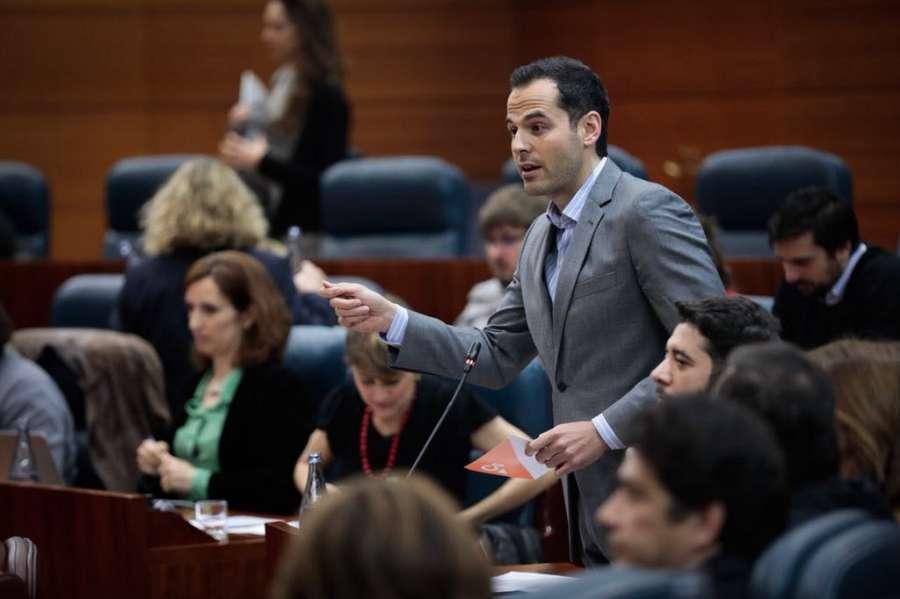 Ignacio Aguado no descarta que Ciudadanos se sume a la moción de censura