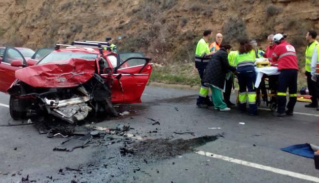 Un fallecido y tres heridos graves en un accidente en Cintruénigo