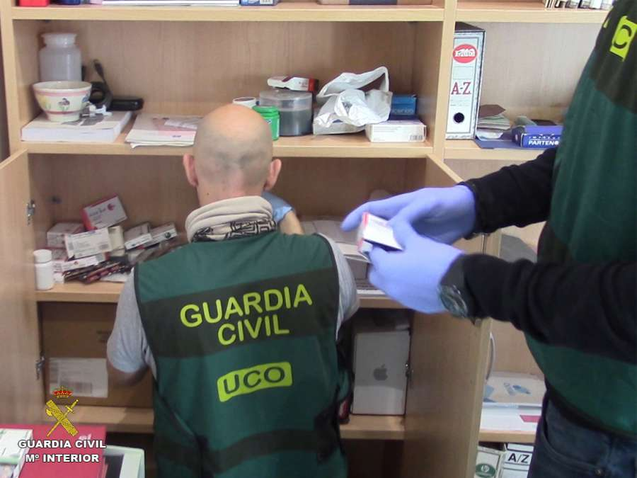 Desarticulado en España entramado internacional de fabricación y exportación de medicamentos ilegales