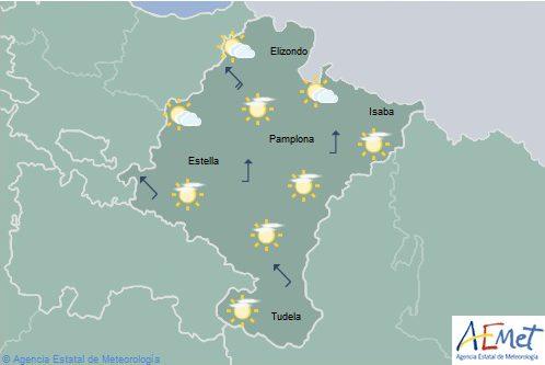 Hoy en Navarra, notable ascenso de temperaturas