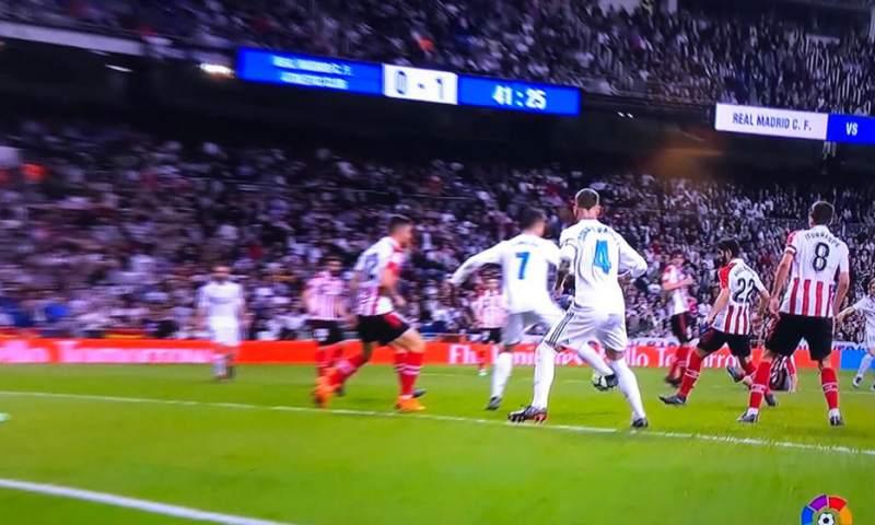 Así fue el golazo de tacón de Cristiano Ronaldo ante el Athletic