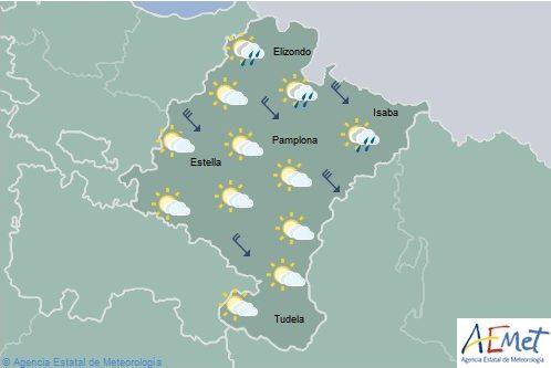En Navarra intervalos nubosos, temperaturas máximas en ascenso