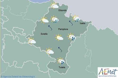 En Navarra nubosidad de evolución con chubascos localmente tormentosos
