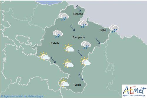 En Navarra nuboso con lluvia y tormentas