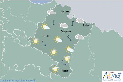 En Navarra nubosidad de evolución, temperaturas máximas en ascenso