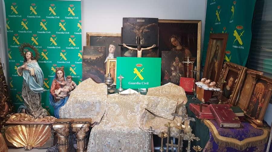 Detenidos por robar artículos religiosos en Milagro (Navarra) y Zaragoza
