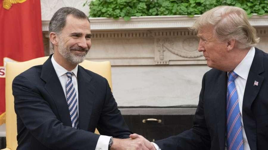 Trump defendió ante Felipe VI una alianza con una España