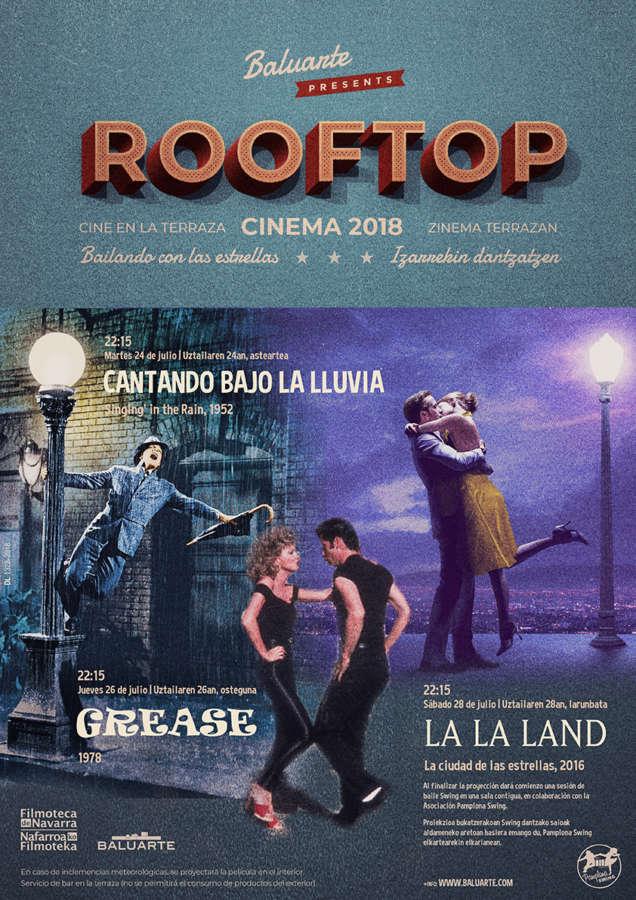 La Terraza de Baluarte acoge una nueva edición del ciclo de cine al aire libre 'RoofTop Cinema'