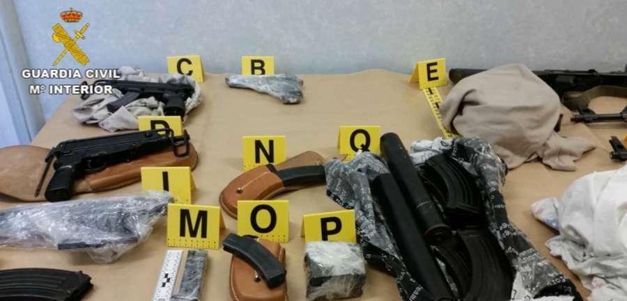 Desarticulada una organización criminal de tráfico de armas a nivel internacional