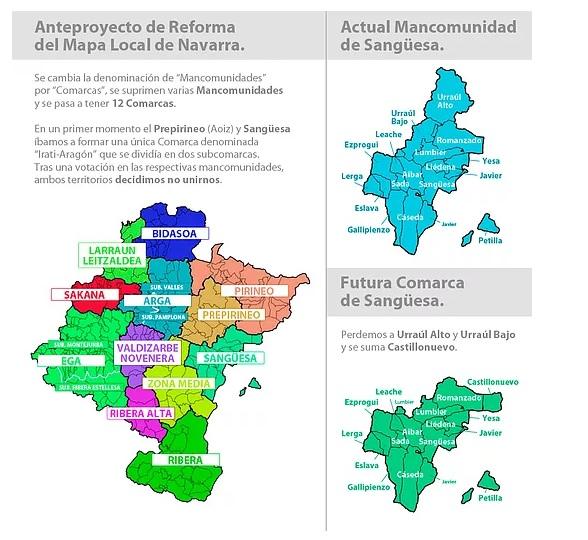 El PSN enmienda a la totalidad la Ley de Mapa Local para Navarra