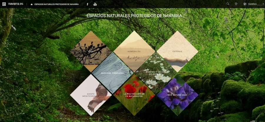 Una nueva web de Medio Ambiente recopila los espacios naturales protegidos de Navarra