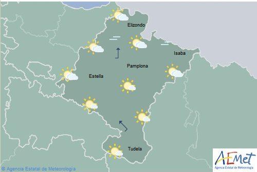 En Navarra chubascos con tormentas y temperaturas en aumento