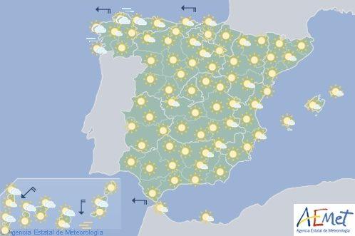 Hoy en España, suben los termómetros en el Cantábrico y Alto Ebro, y bajan en Galicia
