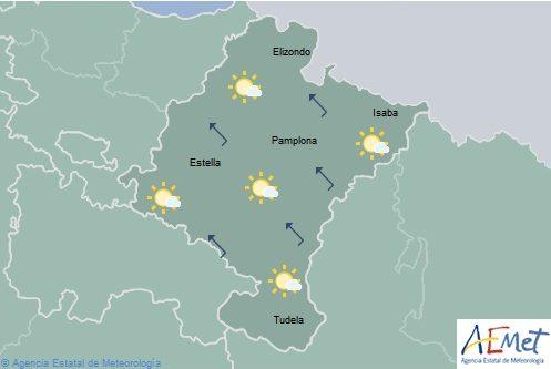 Nubosidad de evolución con tormentas en gran parte de Navarra