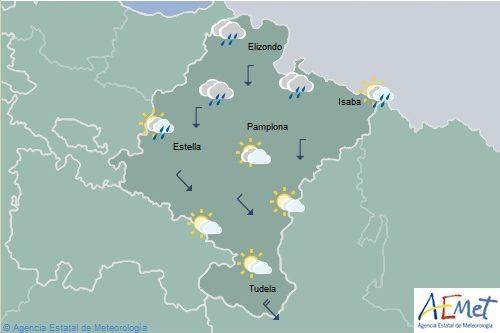 Descenso notable de las temperaturas en Navarra y posibilidad de lluvias intensas