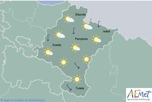 En Navarra cielo poco nuboso o despejado, temperaturas en ascenso