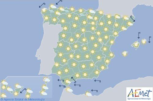 Hoy en España, las temperaturas subirán hoy de forma generalizada