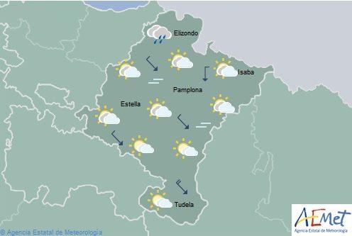 Lluvias débiles en el noroeste de Navarra, temperaturas en descenso