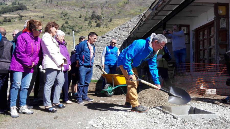 Se inician las obras de rehabilitación del refugio Ángel Olorón de Belagua (Navarra)